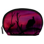 Vultures At Top Of Tree Silhouette Illustration Accessory Pouches (Large)  Front