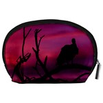 Vultures At Top Of Tree Silhouette Illustration Accessory Pouches (Large)  Back