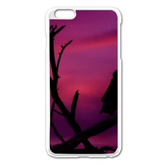 Vultures At Top Of Tree Silhouette Illustration Apple Iphone 6 Plus/6s Plus Enamel White Case