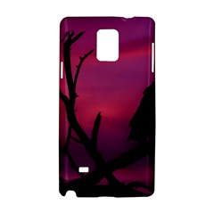 Vultures At Top Of Tree Silhouette Illustration Samsung Galaxy Note 4 Hardshell Case