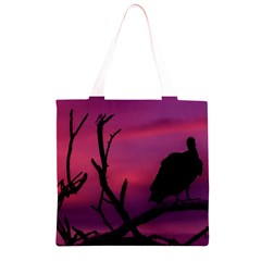 Vultures At Top Of Tree Silhouette Illustration Grocery Light Tote Bag