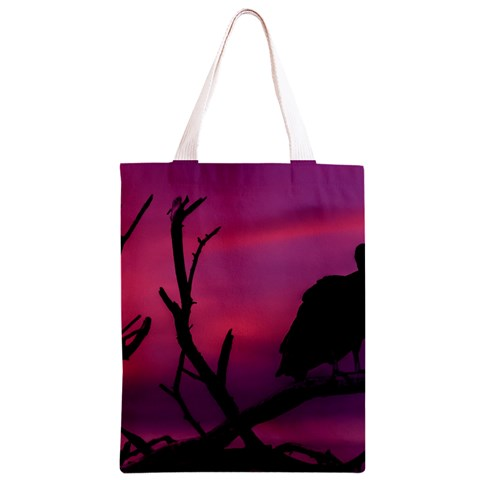 Vultures At Top Of Tree Silhouette Illustration Classic Light Tote Bag