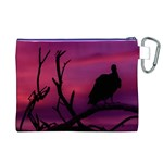 Vultures At Top Of Tree Silhouette Illustration Canvas Cosmetic Bag (XL) Back
