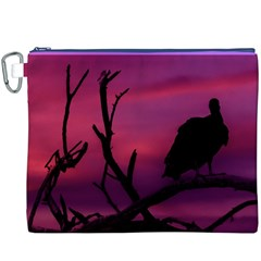 Vultures At Top Of Tree Silhouette Illustration Canvas Cosmetic Bag (xxxl)