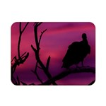 Vultures At Top Of Tree Silhouette Illustration Double Sided Flano Blanket (Mini)  35 x27 Blanket Back