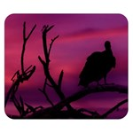 Vultures At Top Of Tree Silhouette Illustration Double Sided Flano Blanket (Small)  50 x40 Blanket Back