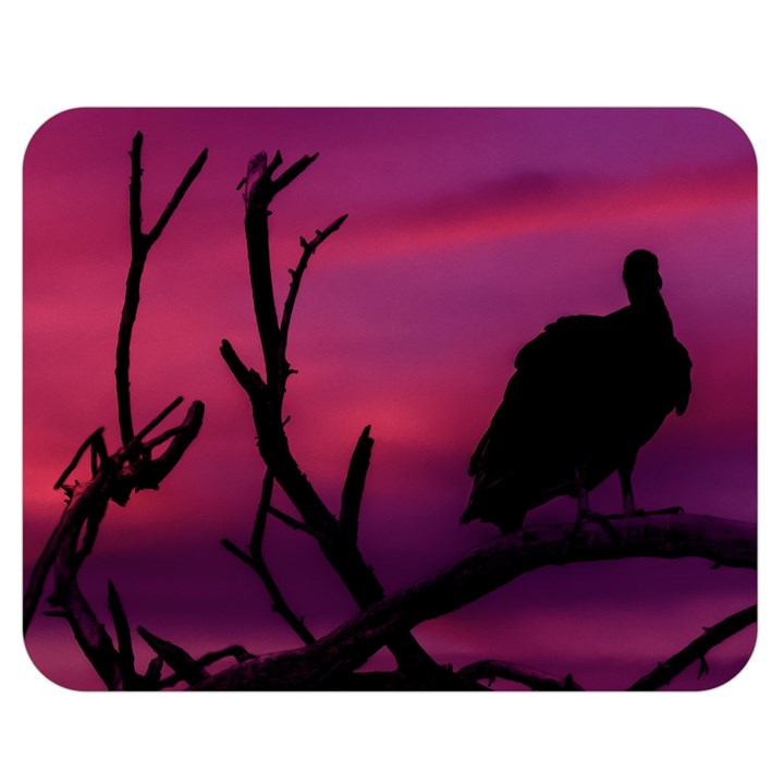 Vultures At Top Of Tree Silhouette Illustration Double Sided Flano Blanket (Medium)