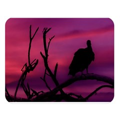 Vultures At Top Of Tree Silhouette Illustration Double Sided Flano Blanket (large)