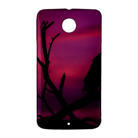Vultures At Top Of Tree Silhouette Illustration Nexus 6 Case (White)