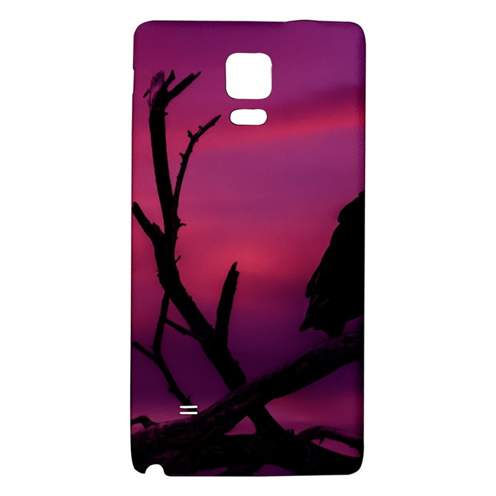 Vultures At Top Of Tree Silhouette Illustration Galaxy Note 4 Back Case
