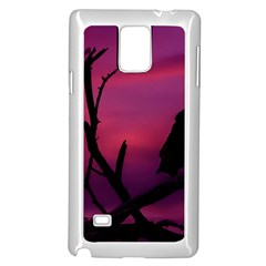 Vultures At Top Of Tree Silhouette Illustration Samsung Galaxy Note 4 Case (white)