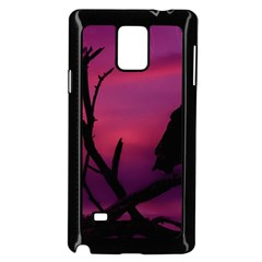 Vultures At Top Of Tree Silhouette Illustration Samsung Galaxy Note 4 Case (Black)