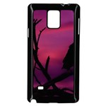 Vultures At Top Of Tree Silhouette Illustration Samsung Galaxy Note 4 Case (Black) Front