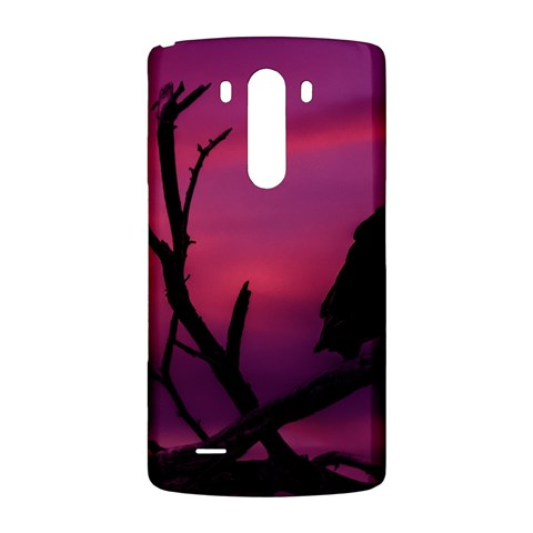 Vultures At Top Of Tree Silhouette Illustration LG G3 Back Case