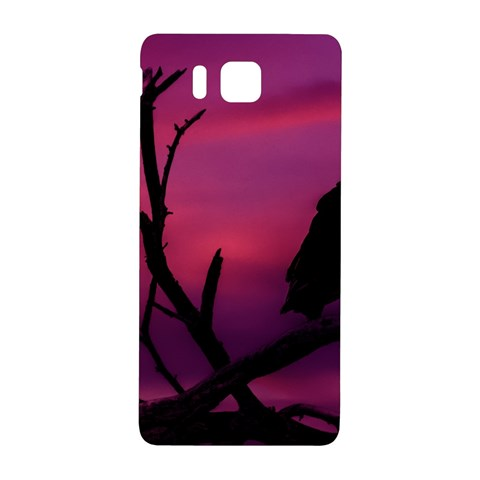 Vultures At Top Of Tree Silhouette Illustration Samsung Galaxy Alpha Hardshell Back Case