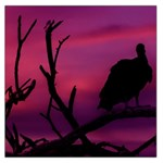 Vultures At Top Of Tree Silhouette Illustration Large Satin Scarf (Square) Front