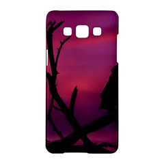 Vultures At Top Of Tree Silhouette Illustration Samsung Galaxy A5 Hardshell Case