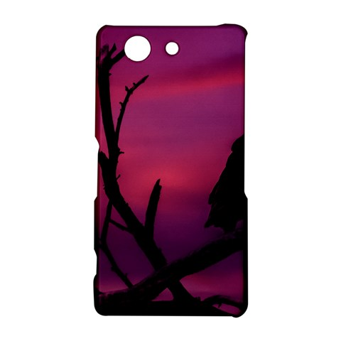 Vultures At Top Of Tree Silhouette Illustration Sony Xperia Z3 Compact