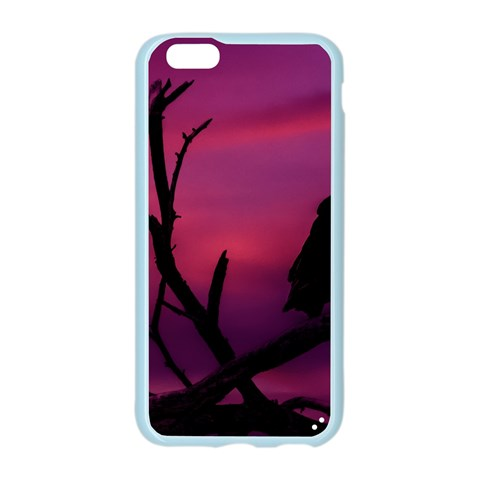 Vultures At Top Of Tree Silhouette Illustration Apple Seamless iPhone 6/6S Case (Color)