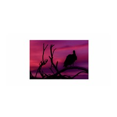 Vultures At Top Of Tree Silhouette Illustration Satin Wrap
