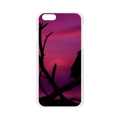 Vultures At Top Of Tree Silhouette Illustration Apple Seamless iPhone 6/6S Case (Transparent)