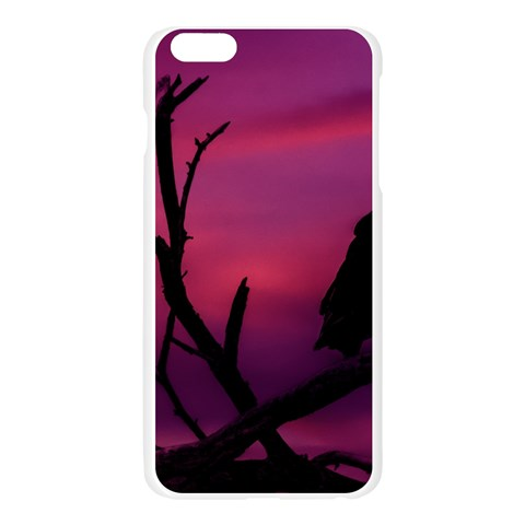 Vultures At Top Of Tree Silhouette Illustration Apple Seamless iPhone 6 Plus/6S Plus Case (Transparent)