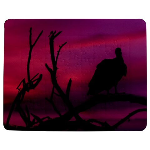Vultures At Top Of Tree Silhouette Illustration Jigsaw Puzzle Photo Stand (Rectangular)