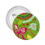 Green Organic Abstract 2.25  Buttons Front