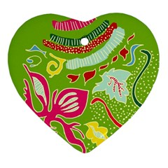 Green Organic Abstract Ornament (heart)