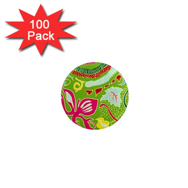 Green Organic Abstract 1  Mini Magnets (100 pack)