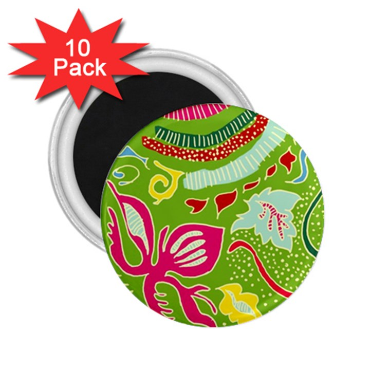 Green Organic Abstract 2.25  Magnets (10 pack)