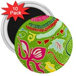 Green Organic Abstract 3  Magnets (10 pack)  Front