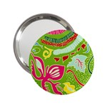Green Organic Abstract 2.25  Handbag Mirrors Front