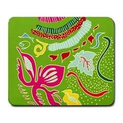 Green Organic Abstract Large Mousepads