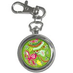 Green Organic Abstract Key Chain Watches Front