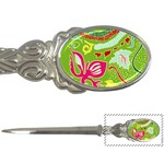 Green Organic Abstract Letter Openers Front