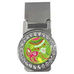 Green Organic Abstract Money Clips (cz)
