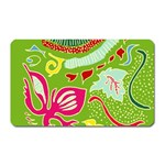 Green Organic Abstract Magnet (Rectangular) Front
