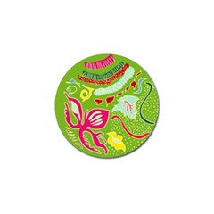 Green Organic Abstract Golf Ball Marker (10 pack)