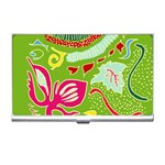 Green Organic Abstract Business Card Holders Front