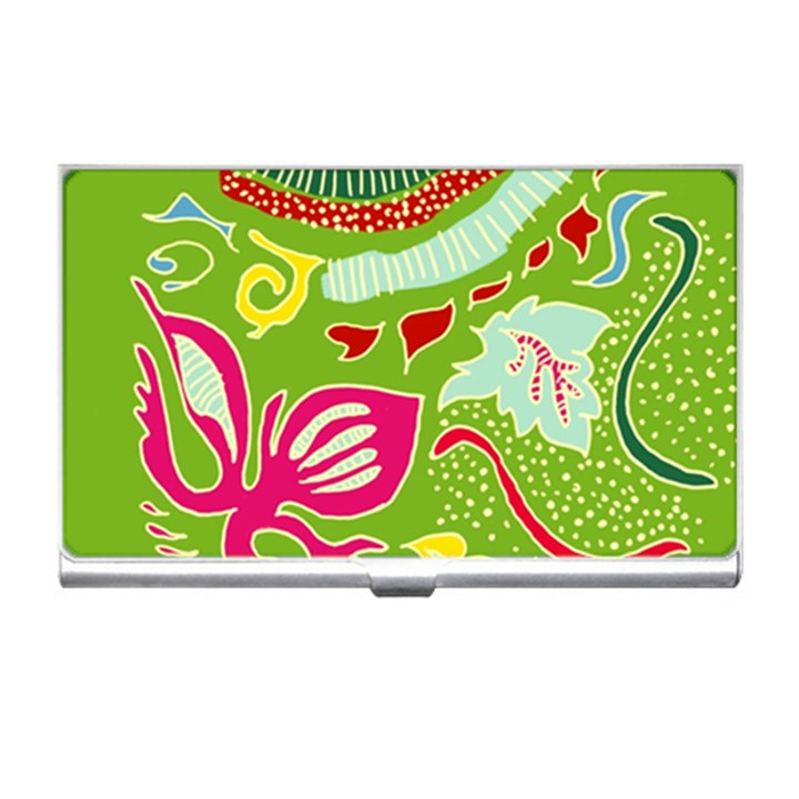 Green Organic Abstract Business Card Holders