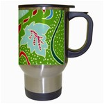 Green Organic Abstract Travel Mugs (White) Right