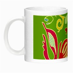 Green Organic Abstract Night Luminous Mugs