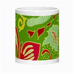 Green Organic Abstract Night Luminous Mugs Center