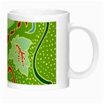Green Organic Abstract Night Luminous Mugs Right