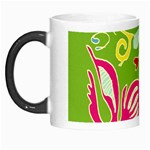 Green Organic Abstract Morph Mugs Left