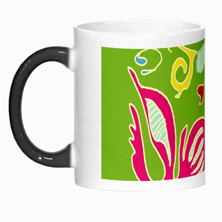 Green Organic Abstract Morph Mugs