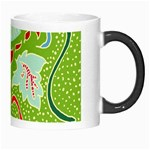 Green Organic Abstract Morph Mugs Right