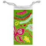 Green Organic Abstract Jewelry Bags Back
