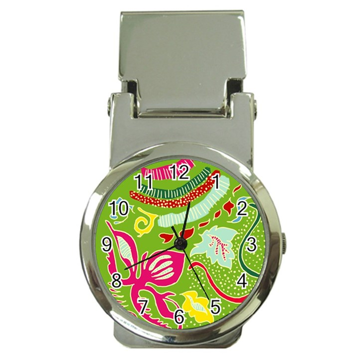 Green Organic Abstract Money Clip Watches